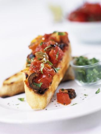 Bruschetta with Tomatoes and Olives by Ian Garlick