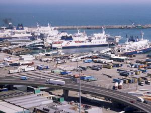 Ferry Terminal at Dover Harbour, Kent, England, United Kingdom by Ian Griffiths