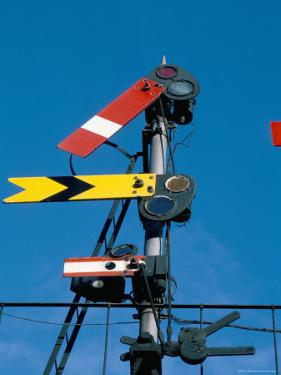 Home and Distant Signals (Gwr) on Gantry, Newton Abbot, Devon, England, United Kingdom by Ian Griffiths