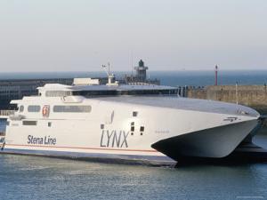 Stena Line 'Sea Lynx' Trimaran, Dieppe Harbour, France by Ian Griffiths