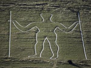 The Long Man, Wilmington Hill, Near Wilmington, South Downs, Sussex, England, United Kingdom by Ian Griffiths