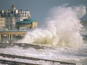 Waves Pounding Bandstand, Storm in Eastbourne, East Sussex, England, United Kingdom, Europe by Ian Griffiths