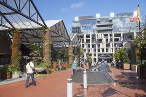 Outdoor Shopping Mall in Britomart Precinct, Auckland, North Island, New Zealand, Pacific by Ian