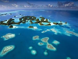 Aerial View of Palau known as 70 Mile Islands by Ian Shive