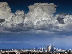 Downtown Los Angeles, California with Cumulonimbus Clouds Forming Overhead. by Ian Shive