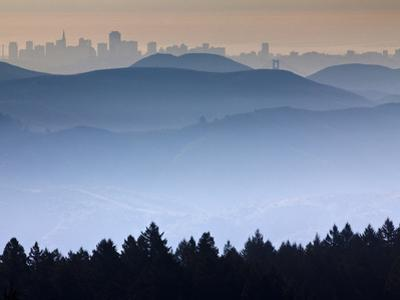 He View from the Summit of Mt. Tamalpais Looking Back Towards the City of San Francisco, Ca