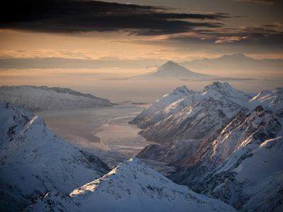 Lake Clark National Park, Alaska: Morning Light on the Chigmit Mountains