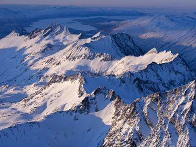 Morning Light on the Chigmit Mountains, a Subrange of the Aleutians.