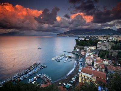 Sorrento, Italy: a Vibrant Sunset over the Classic Amalfi Coastal City by Ian Shive