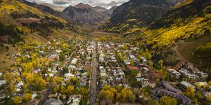 Telluride, Colorado: Autumn In The Rocky Mountains As Seen From The Air by Ian Shive