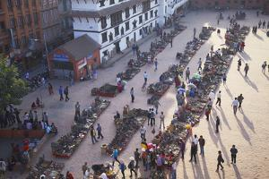 Basantapur Square, Durbar Square, UNESCO World Heritage Site, Kathmandu, Nepal, Asia by Ian Trower