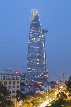 Bitexco Financial Tower at Dusk, Ho Chi Minh City, Vietnam, Indochina, Southeast Asia, Asia by Ian Trower
