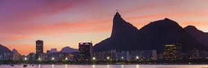Botafogo Bay and Christ the Redeemer Statue at Sunset, Rio De Janeiro, Brazil by Ian Trower
