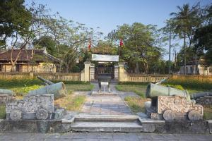 Cannons at Fine Arts Museum, Citadel, Hue, Thua Thien-Hue, Vietnam, Indochina, Southeast Asia, Asia by Ian Trower