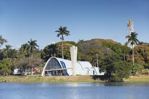 Church of St. Francis of Assisi, Pampulha Lake, Pampulha, Belo Horizonte, Minas Gerais, Brazil by Ian Trower