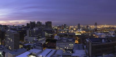 City Bowl at sunset, Cape Town, Western Cape, South Africa, Africa