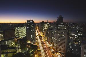 City Skyline at Dusk, Belo Horizonte, Minas Gerais, Brazil, South America by Ian Trower