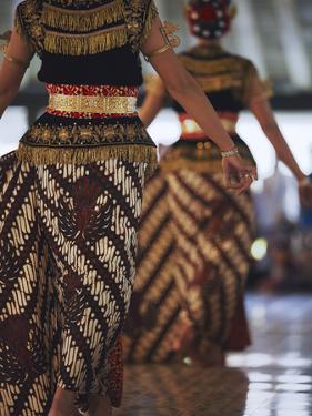 Dancers of Gamelan Performance Inside Kraton (Palace of Sultans), Yogyakarta, Java, Indonesia by Ian Trower