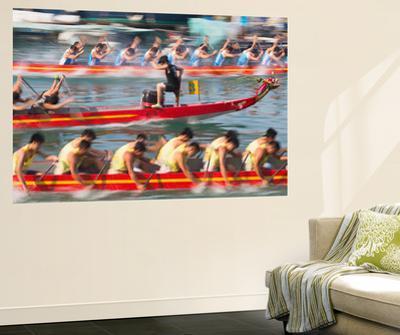 Dragon Boat Race, Shau Kei Wan, Hong Kong Island, Hong Kong by Ian Trower