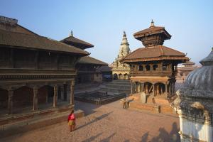 Durbar Square at Dawn, Bhaktapur, UNESCO World Heritage Site, Kathmandu Valley, Nepal, Asia by Ian Trower