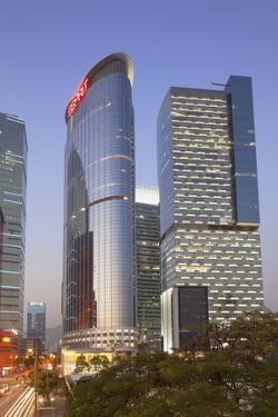Entreprise Square Three at Dusk, Kowloon Bay, Kowloon, Hong Kong, China, Asia by Ian Trower