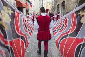 Flag Bearer in Medieval Festival of La Quintana, Ascoli Piceno, Le Marche, Italy by Ian Trower