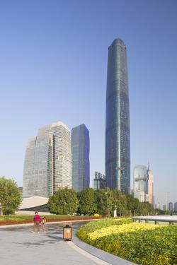 International Finance Centre and Skyscrapers in Zhujiang New Town by Ian Trower