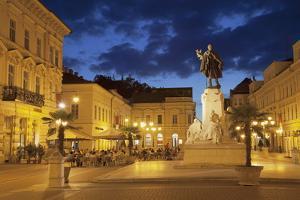Klauzal Square at Dusk, Szeged, Southern Plain, Hungary, Europe by Ian Trower