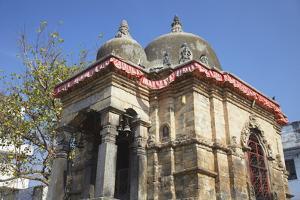 Kotilingeshwar Mahadev Temple, Durbar Square, UNESCO World Heritage Site, Kathmandu, Nepal, Asia by Ian Trower