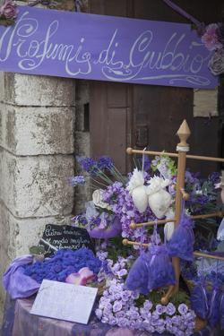 Lavender Display in Shop, Gubbio, Umbria, Italy by Ian Trower