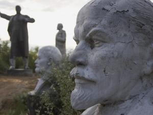 Lenin Statues, Semey, Kazakhstan by Ian Trower