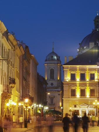 Market Square (Ploscha Rynok) at Dusk, Lviv, UKraine