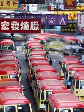 Mini-Buses Parked on Fa Yuen Street, Mong Kok, Kowloon, Hong Kong, China by Ian Trower