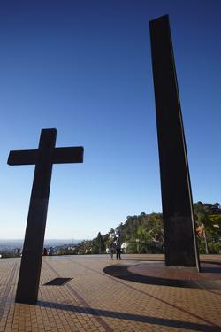 Monuments at Praca do Papa (Pope's Square), Belo Horizonte, Minas Gerais, Brazil, South America by Ian Trower
