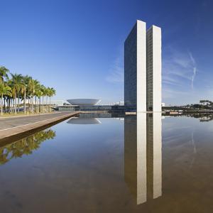 National Congress, Brasilia, Federal District, Brazil by Ian Trower
