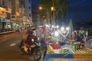 Night Market, Ben Tre, Mekong Delta, Vietnam, Indochina, Southeast Asia, Asia by Ian Trower