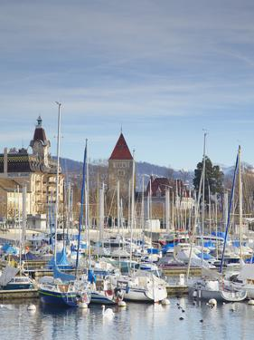 Ouchy Harbour, Lausanne, Vaud, Switzerland by Ian Trower