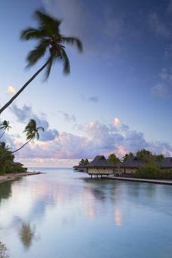 Overwater Bungalows of Intercontinental Mo'Orea Resort, Hauru Point, Moorea by Ian Trower