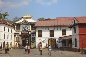 Pashupatinath Temple, UNESCO World Heritage Site, Kathmandu, Nepal, Asia by Ian Trower