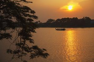 Perfume River (Huong River) at Sunset, Hue, Thua Thien-Hue, Vietnam, Indochina by Ian Trower