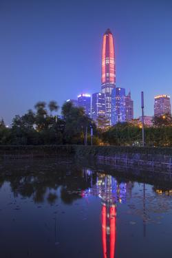Ping An International Finance Centre, world's fourth tallest building in 2017 at 600m, Futian, Shen by Ian Trower