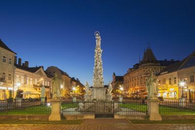 Plague Column at Dusk, Kosice, Kosice Region, Slovakia, Europe by Ian Trower