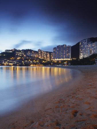 Repulse Bay Beach at Dusk, Hong Kong Island, Hong Kong, China, Asia