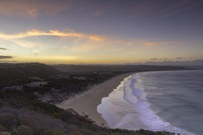 Robberg Nature Reserve and Plettenberg Bay at sunset, Western Cape, South Africa, Africa by Ian Trower