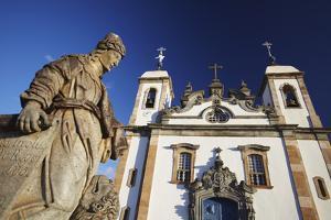 Sanctuary of Bom Jesus de Matosinhos and Prophets Sculpture, UNESCO Site, Congonhas, Brazil by Ian Trower