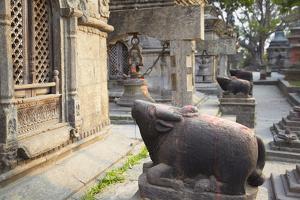 Shiva Shrines at Pashupatinath Temple, UNESCO World Heritage Site, Kathmandu, Nepal, Asia by Ian Trower
