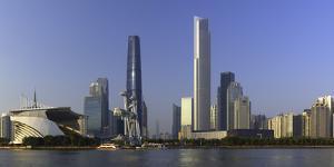 Skyline of Tianhe, Guangzhou, Guangdong, China, Asia by Ian Trower