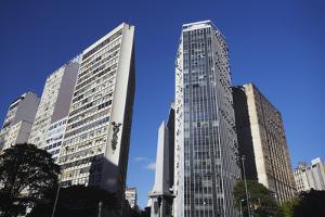 Skyscrapers in Praca Sete, Belo Horizonte, Minas Gerais, Brazil, South America by Ian Trower