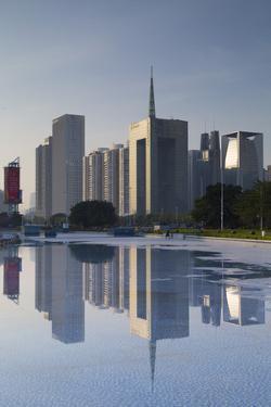 Skyscrapers in Zhujiang New Town, Tian He, Guangzhou, Guangdong, China, Asia by Ian Trower
