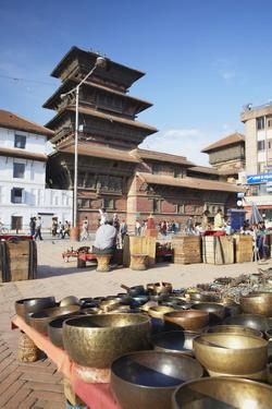 Souvenirs for Sale in Durbar Square, UNESCO World Heritage Site, Kathmandu, Nepal, Asia by Ian Trower